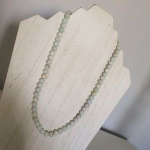 Authentic 10 mm jade necklace